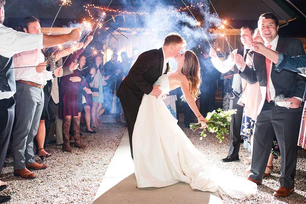 Bride-groom-sparklers-reception